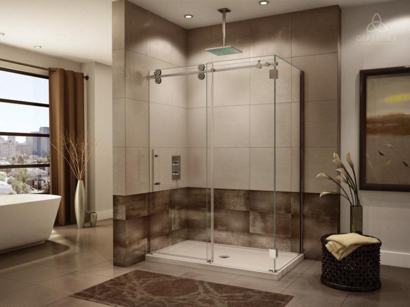Душевая перегородка из стекла для ванной